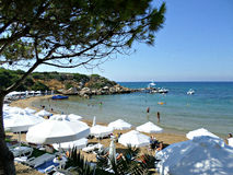 Beach in Lapta, Cyprus Stock Photo