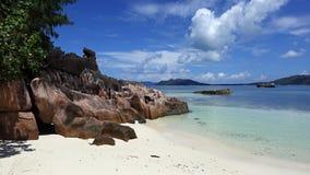 Beach in Laraie bay , Curieuse island , Seychelles Stock Photography