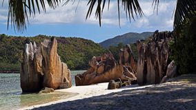Beach in Laraie bay , Curieuse island , Seychelles Stock Images