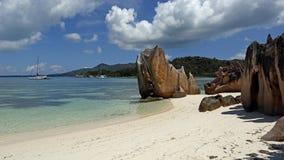 Beach in Laraie bay , Curieuse island , Seychelles Royalty Free Stock Photography