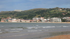 Beach of Laredo in Cantabria, Spain Stock Photo