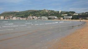 Beach of Laredo in Cantabria, Spain Royalty Free Stock Photo
