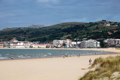 Beach in Laredo, Cantabria, Spain Royalty Free Stock Images