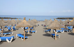 Beach in Las Americas, Tenerife Royalty Free Stock Photography
