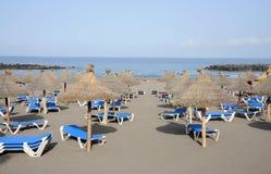 Beach in Las Americas, Tenerife. Beach in Las Americas. Canary Island Tenerife, Spain royalty free stock photography