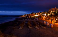 Beach Las Americas in Tenerife island - Canary Spain royalty free stock photography