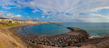 Beach Las Americas in Tenerife island - Canary Stock Photo