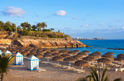 Beach Las Americas in Tenerife island - Canary Stock Images