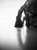 Beach of Las Catedrales or As Catedrais, Ribadeo, Galicia, Spain Royalty Free Stock Photo