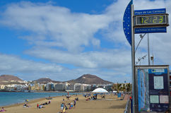 The beach in Las Palmas, Gran Canaria,Spain Stock Photography