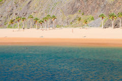 Beach Las Teresitas, Tenerife, Spain Stock Image