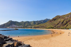 Beach Las Teresitas, Tenerife, Spain Royalty Free Stock Photo