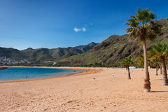 Beach Las Teresitas, Tenerife, Spain Royalty Free Stock Image