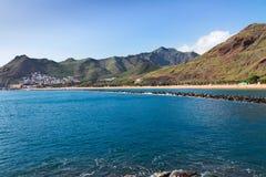 Beach Las Teresitas, Tenerife, Spain Royalty Free Stock Images