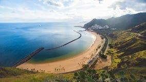 Beach Las Teresitas on Tenerife Stock Images