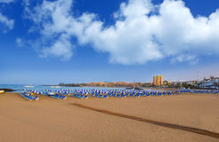 Beach Las vistas in Adeje Arona at Tenerife south Stock Photography
