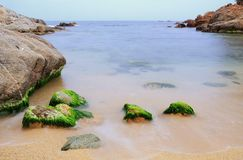 The beach. A beach during last winter in La Costa Brava, Catalonia, Spain Royalty Free Stock Photography