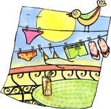 Beach laundry Royalty Free Stock Image