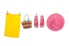 Beach laundry Royalty Free Stock Images