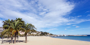 Beach of Lavandou Royalty Free Stock Images