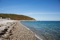 Beach at Laxey Isle of Man. The pebble beach at Laxey Isle of Man British Isles Royalty Free Stock Photo