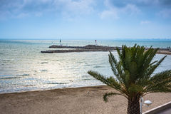 Beach of the Le Grau Du Roi, Languedoc Roussillon Royalty Free Stock Image