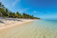 Beach of Le Morne Mauritius Royalty Free Stock Photo