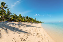 Beach of Le Morne Mauritius Royalty Free Stock Images