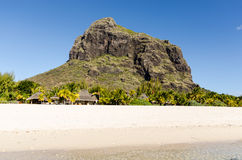 Beach of Le Morne in Mauritius. View over the beach of Le Morne in Mauritius Royalty Free Stock Photography
