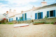 Beach_le_petit_vieil bij zomer Royalty-vrije Stock Afbeeldingen