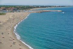 Beach LE Racou Argeles sur Mer Μεσόγειος Στοκ Φωτογραφία