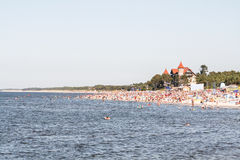 Beach leba. View of the coast in leba Stock Photo
