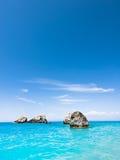 Beach on Lefkada, Greece. Beautiful sandy beach on Lefkada, Greece Royalty Free Stock Photography