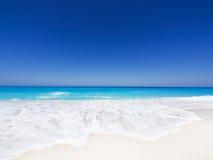 Beach on Lefkada, Greece. Beautiful sandy beach on Lefkada, Greece Stock Photos