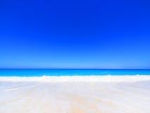 Beach on Lefkada, Greece. Beautiful sandy beach on Lefkada, Greece Stock Images