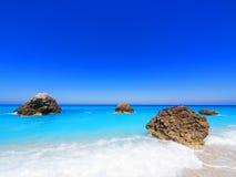 Beach on Lefkada, Greece Stock Photos