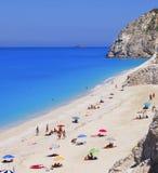 Beach on Lefkada, Greece Royalty Free Stock Photos
