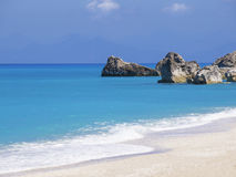 Beach on Lefkada, Greece Stock Image