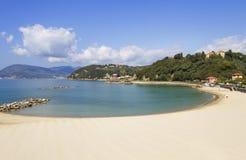 Beach in the Lerici. Stock Photo