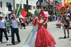 Beach-Lesbier und homosexuelle Stolz-Parade Lizenzfreie Stockfotos