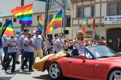 Beach-Lesbier und homosexueller Stolz Stockfoto