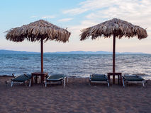Beach on Lesbos Stock Photo