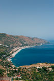 Beach in Letojani. View on the beaches in Letojani, Sicily Royalty Free Stock Image