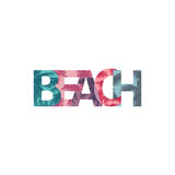 Beach. Lettering tropical  illustration Stock Image