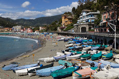 The beach of Levanto Stock Image
