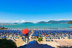 Beach of Lido di Lerici - Lerici Italy Royalty Free Stock Image