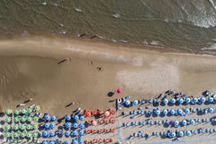 Beach life aerial Royalty Free Stock Photography