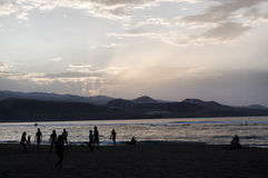 Beach life in gran Canaria Royalty Free Stock Image