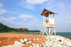 Beach life guard tower Royalty Free Stock Photography