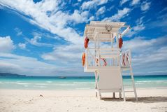 Beach life-saving hillock Royalty Free Stock Image